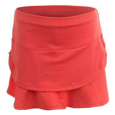 LUCKY IN LOVE - Girls` Pindot Rouched Tier Tennis Skort Flame - (B74-807S17)