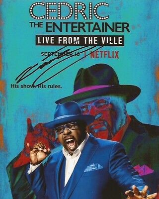 CEDRIC THE ENTERTAINER SIGNED 8x10 PHOTO EXACT PROOF COA AUTOGRAPHED