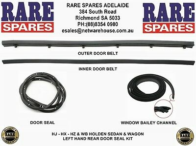 Holden HJ HX HZ WB Sedan Wagon Left Hand Rear Door Seal Kit Rare Spares Adelaide