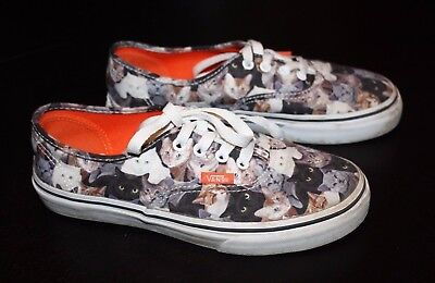 acc917cecc Vans Authentic Aspca Kittens Cat Low Top Unisex Sports Shoes (Kid s Size  2.5)