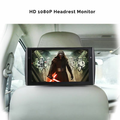 "11.6""  MP5 Player Car Headrest  LCD HD 1080P Monitor Rear-Seat  Media System"