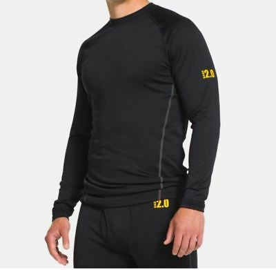 New Under Armour ColdGear Base 2.0 Crew Compression Long Sleeve Crew Shirt XXL