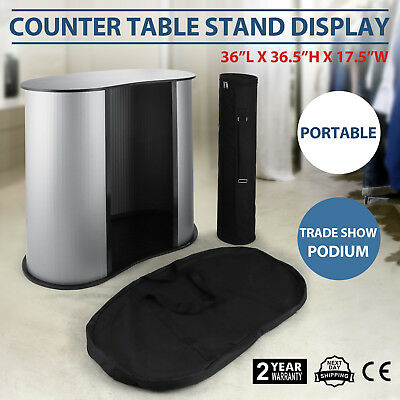 Podium Table Counter Stand Trade Show Display Speech Oval Bean Professional