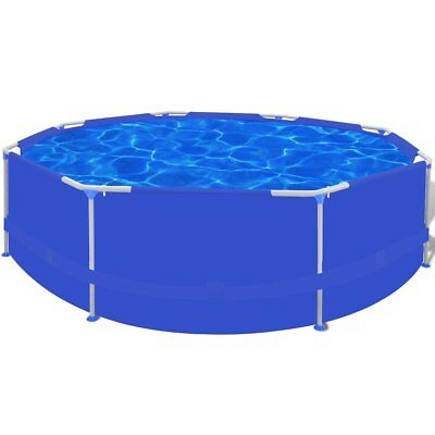 10ft 300cm Above Ground Swimming Pool Filter Pump Round Inflatable Metal Frame