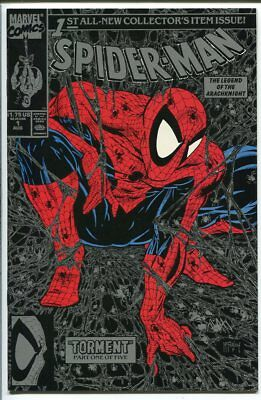 Spider-Man #1 Mcfarlane Black / Silver Cover Marvel 1990 Nm