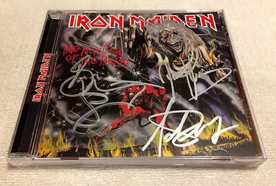 Iron Maiden The Number of the Beast CD Signed Bruce Dickenson Heavy Metal