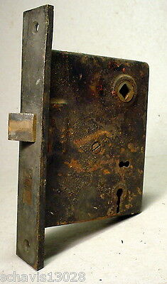 "Architectural Salvage Penn Mortise Lock Antique Door Hardware Interior 2-1/2"" LH"