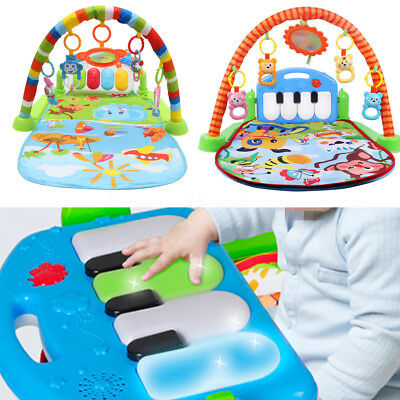 Baby Infant Activity Gym Playmat 3 in 1 Fitness Music Fun Piano Soft Mat Carpet