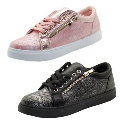 check out 83393 8766a Neuf Femmes Balance Style Brillant Chaussures Plat Semelle Baskets Tennis