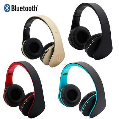 Wireless Bluetooth Stereo Foldable Headphones Mic for PC Meizu Computer Dell CA