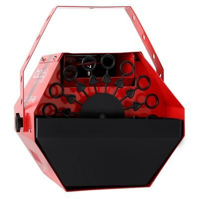 Mini Dj Pa Disco Seifenblasen Maschine Tragbar Bubble Machine Rot Party Effekt