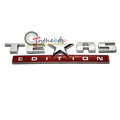 (1) Chrome Finish 3D Texas Edition Emblem Badges For Ford F-150 F-250 F-350, etc