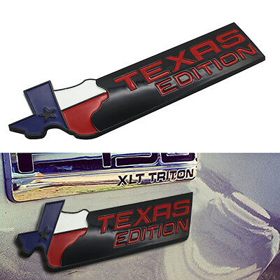 Texas Edition Emblem Badges Sticker For Ford F-150 F-250 Chevy GMC Dodge Trucks
