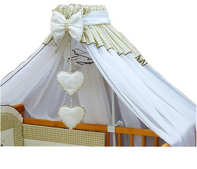 STUNNING   CANOPY DRAPE +CANOPY HOLDER / ROD TO FIT BABY COT or COTBED