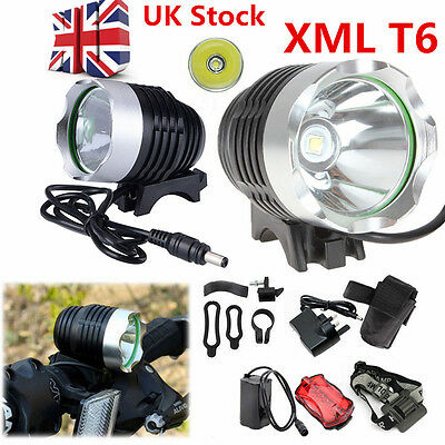 6000Lm CREE XM-L T6 LED Bicycle Bike Head Light Headlamp Rechargeable Lamp Flash