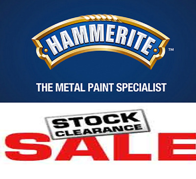 CLEARANCE PACK - Hammerite / Smoothrite & Thinners ( 7 Cans In Total )