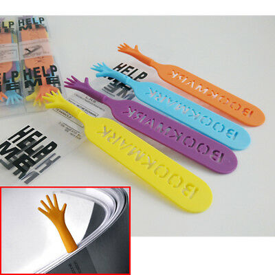 Cute 4pcs Funny Help Me Bookmarks Memo Stationery Book Mark Page Holder
