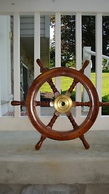 "Sailboat steering wheel ships wheel vintage nautical 22"" ship wheel"
