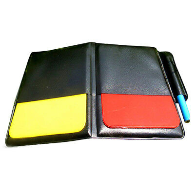 SS Referee Cards Red Yellow Football /Soccer Sports Wallet Notebook Set New