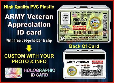 US ARMY Veteran (Appreciation) ID Card / Badge - Military - United States - USA