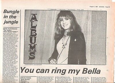 STEVIE NICKS MICK FLEETWOOD albums reviewed 1981 ARTICLE / clipping