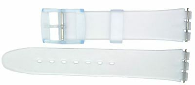 New 17mm (20mm) Sized Replacement Strap, Compatible for Swatch® Watch - Clear