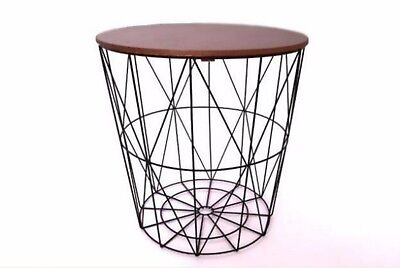 mid century vintage retro 1960's 60's 1970's 70s style black / copper side table