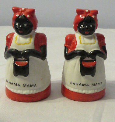 Black Americana Bahama Mama  Salt and Pepper Shakers