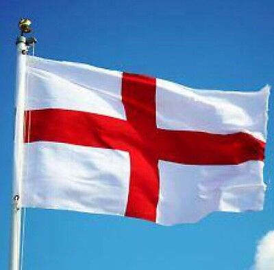 Giant England English 8x4ft St George Cross Flag Rugby 6 Six Nations Football