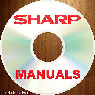 Sharp Biggest Collection Copier Fax Mfc Service Repair Manuals Parts Manual Dvd