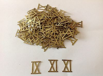 Vintage Clock Face Solid Brass Number 9 nine or 11 eleven Roman Numeral Aprx 200