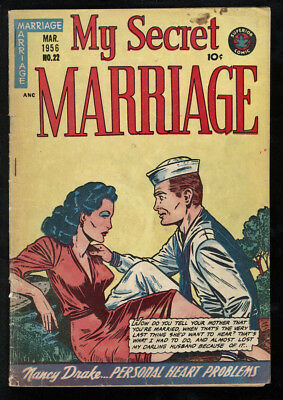 My Secret Marriage #22 GD- 1.8 OW Pages
