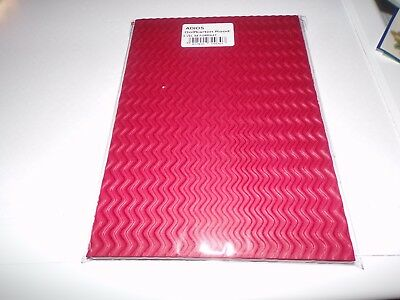 6 Sheets Corrugated Cardboard Red From Adios 21X15 Cm New New