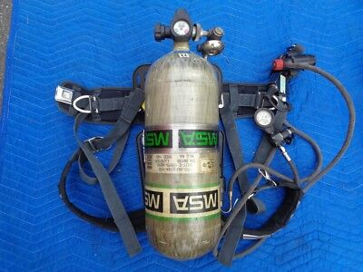 Breathing Apparatus SCBA Backpack Regulator w/ Tank MSA H-60 7-1537-1