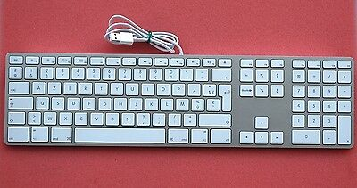 French Version Apple A1243 Aluminum Ultra Thin USB Wired Keyboard (19KD)
