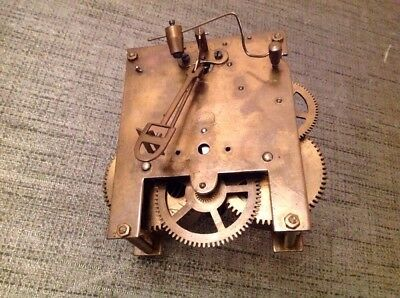 Antique Clock Movement 10x11cm Untested For Repair Or Spare Parts