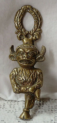 Victorian Solid Brass Cloven Foot Demon Devil Door-Knocker Excellent Condition