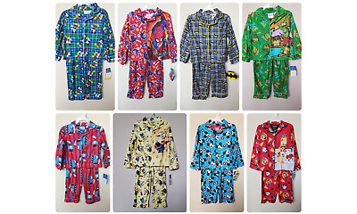 LICENSED BABY TODDLER BOY/'S 2-PC COLLAR FLANNEL PAJAMA SET *NWT