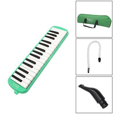 32 Piano Keys Melodica Musical Instrument for Beginner w/Carrying Bag Green E8Q6