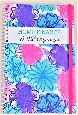Home Finance & Bill Organizer with Pockets Watercolor Flowers