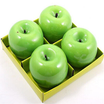 Apple Cool Shape Fruit Scented Candle Wedding Valentine Christmas Candle Decor