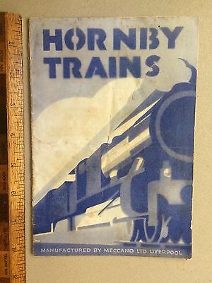 1930s HORNBY TRAINS MECCANO AUSTRALIAN TIN TOY CATALOGUE CLOCKWORK ELECTRIC VGC!