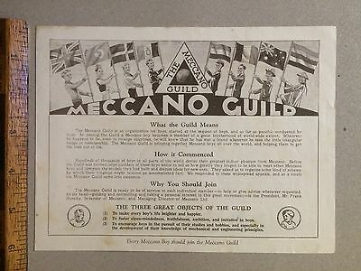 1930s MECCANO GUILD MEMBERSHIP APPLICATION BOOKLET BLUE & GREEN AUSTRALIA EXC!