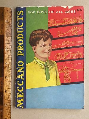 1937 Meccano Aussie Toy Catalogue Dinky Hornby Trains Speedboats 72 Pages Vgc!