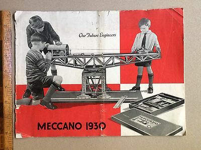 Vintage 1930 Meccano Australia Products Catalogue Outfits Oo - 7 Motors Steam ++