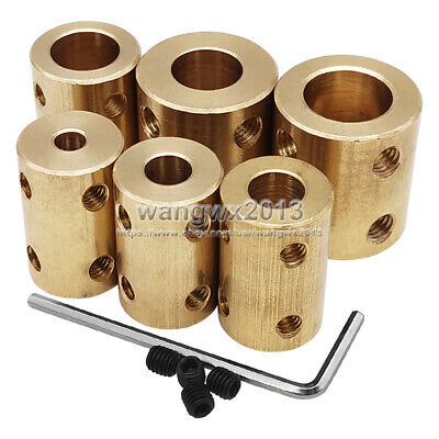 4/5/6/7/8/10/12mm Copper Shaft Coupling Rigid Coupling Coupler Motor Connector