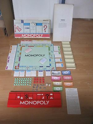 Monopoly Board Game - Parker Brothers - Made in 1961 - Complete