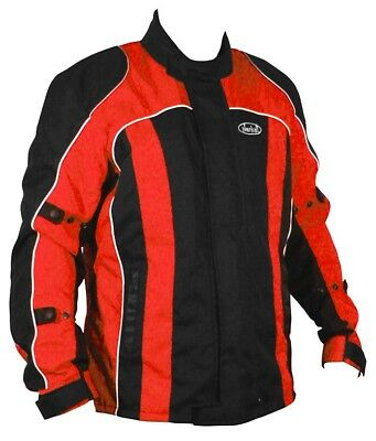 Motorcycle Jacket Nankai Red Wp 3/4 Length Motorbike Removable Lining Ce Armour