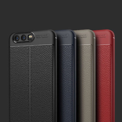 For Huawei P8 P9 P10 Lite Slim Rubber Leather Textured Shockproof Case Cover  S