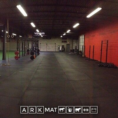 Heavy Duty 12mm Smooth Black Rubber Gym Mat ARKMat Commercial Grade Flooring